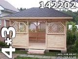 Прямоугольная беседка для дачи 142202