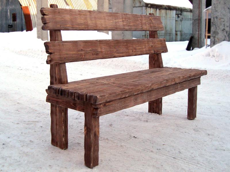 Скамья садовая из массива выполнена из массива в старинном стиле по специальной технологии позволяющей подчеркнуть...