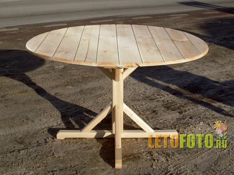 Как сделать своими руками круглый стол