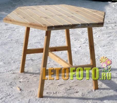 Как сделать шестиугольный стол своими руками