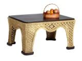 Стол плетеный для беседки №5
