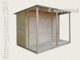 Хозблок для дачи Эко-домик №6 Туалет-душ с навесом.