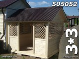 Беседка деревянная 3х3 квадратная Домик-52
