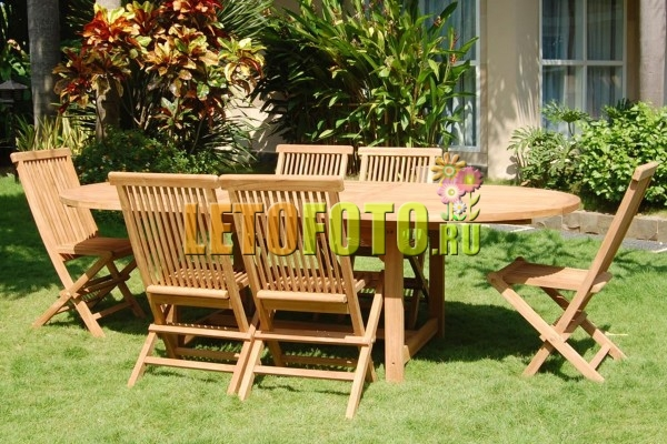 мебель для беседки из дерева фото