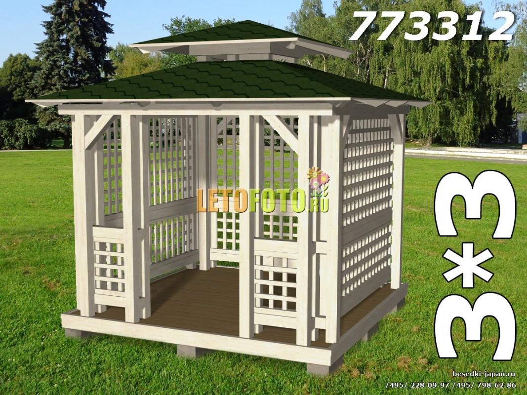 Садовые беседки Японский стиль Беседка для дачи СБ-3312