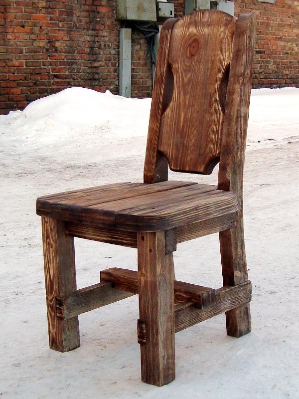 Сделать стул своими руками с дерева фото