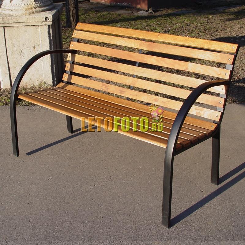 Как сделать скамейку фото из металла